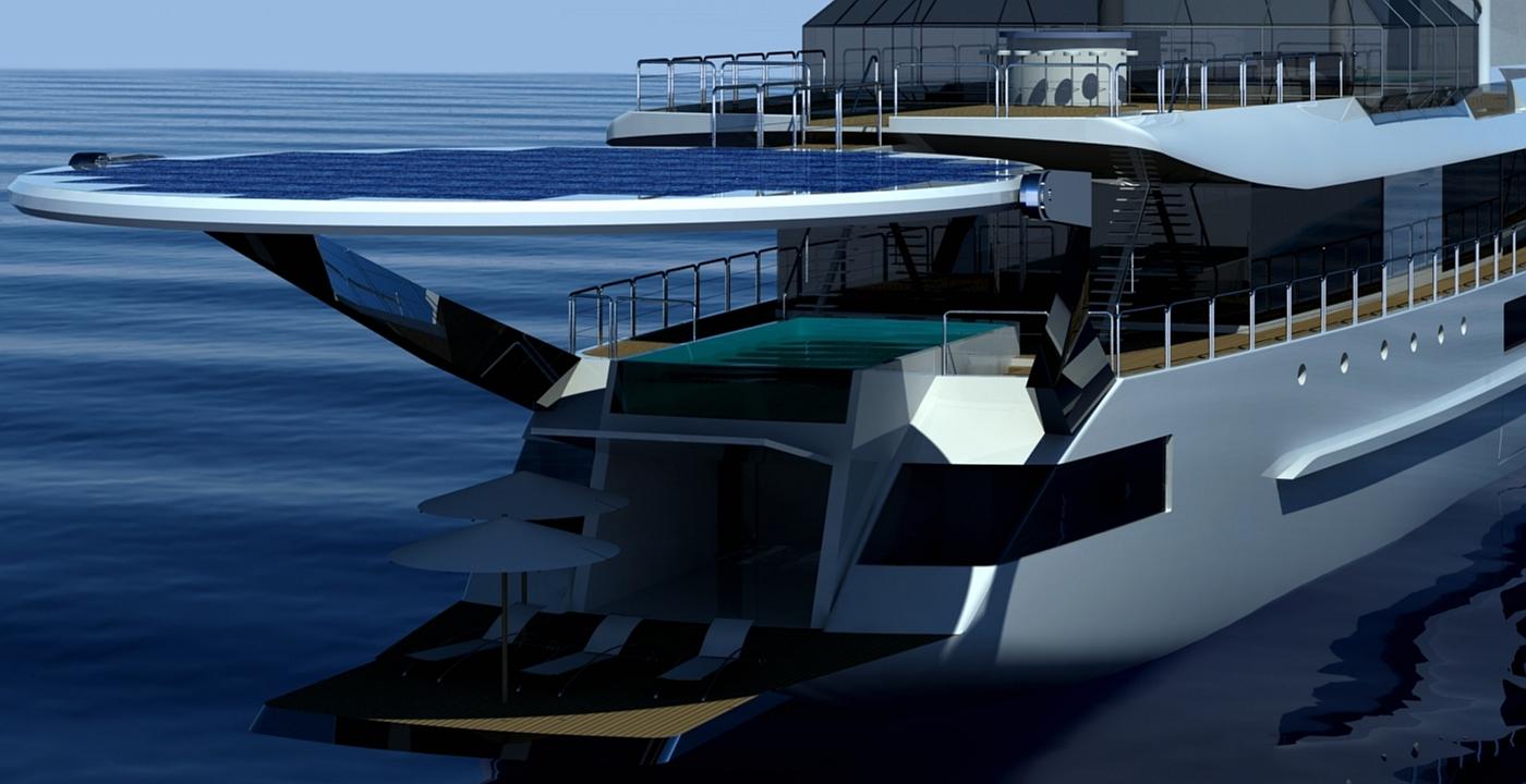 Segelyacht modern  SAIL CRUISE VESSEL' 90 m 'modern' - J. Kinder